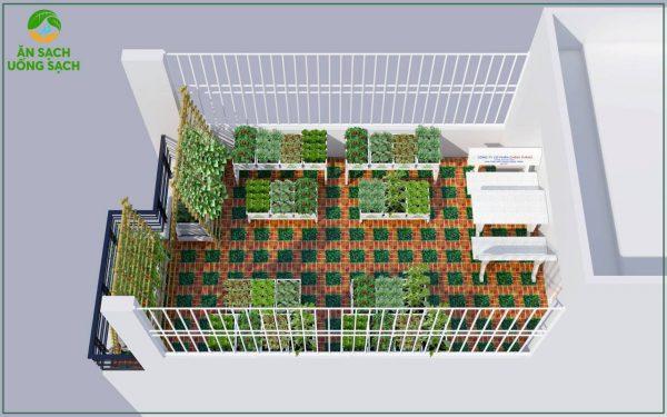 Phác thảo mô hình vườn trong rau 3D