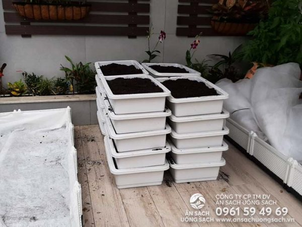 Vật liệu thi công vườn rau sẵn sàng