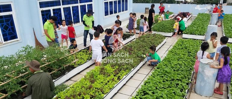 Dạy trẻ chăm vườn