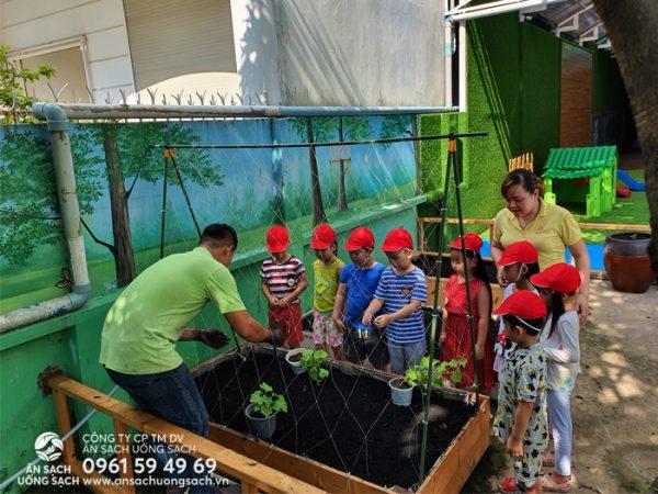 Kỹ sư Ăn Sạch Uống Sạch dạy bé trồng cây con